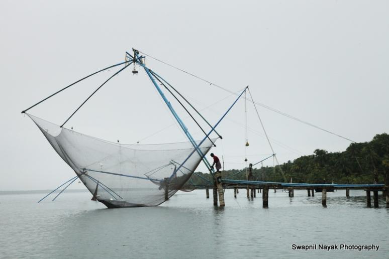 Chinese Fishing near Club Mahindra Ashtamudi
